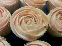 Cupcakes en forma de rosa