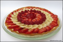 Tarta de crema y fruta