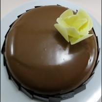 Tarta Espejo de Mousse de Chocolate y frutos rojos
