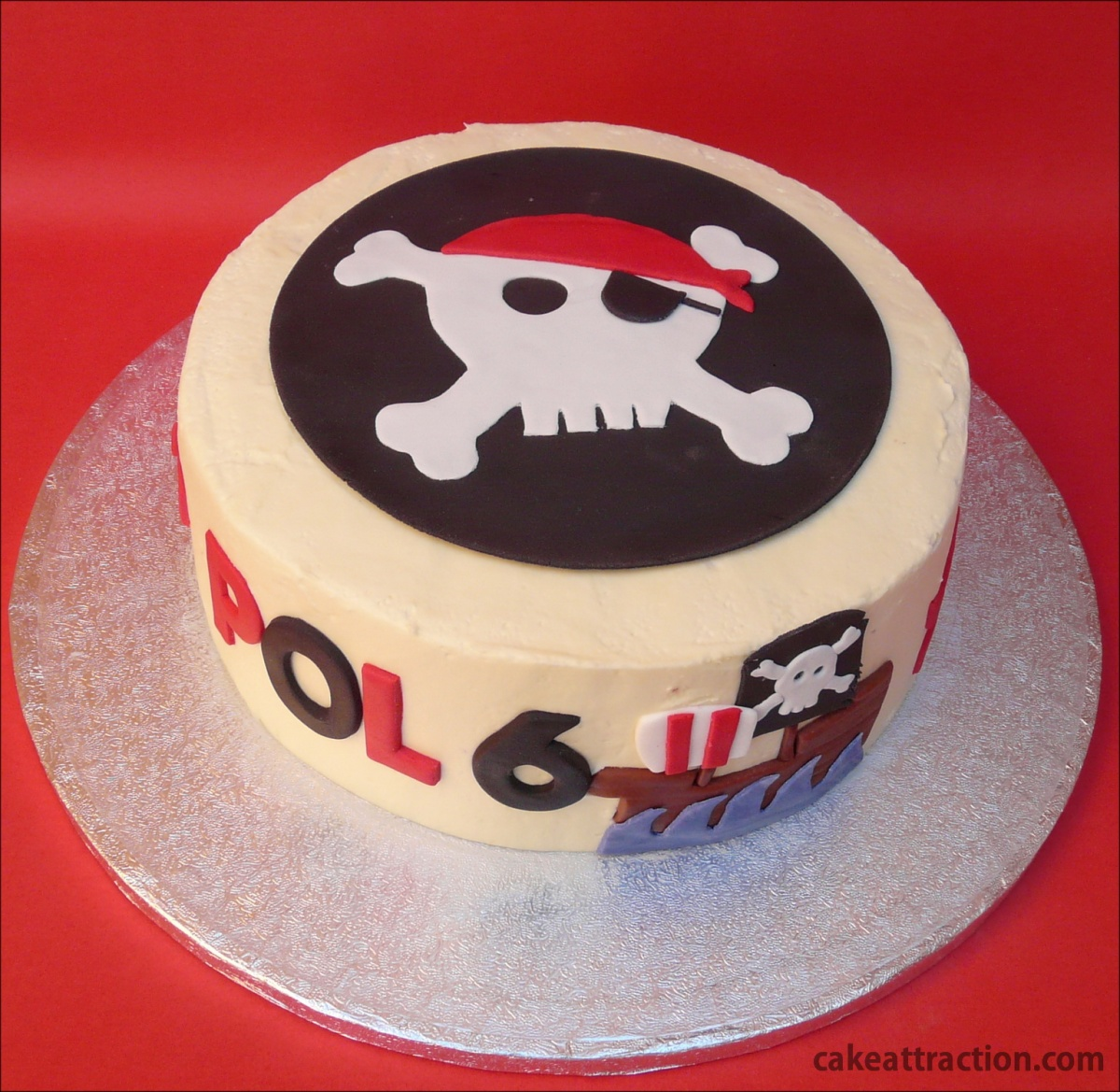 Tarta de Piratas (con Buttercream de Chocolate Blanco)