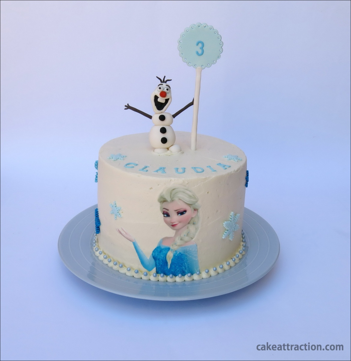 Tarta Frozen (Princesa Disney Elsa y Olaf)